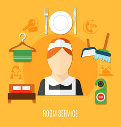 Room service in hotel vector