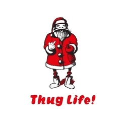 Santa claus shows thug life vector