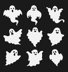 set halloween ghost image vector image