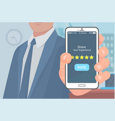 share experience mobile application rating vector image