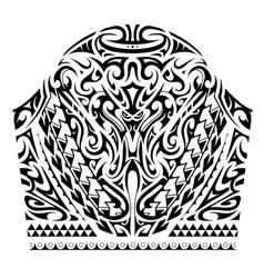 Sleeve tattoo in maori style vector