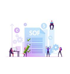 Sop standard operating procedure concept people vector