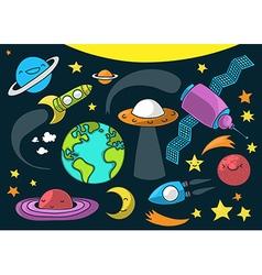 space cartoon vector image
