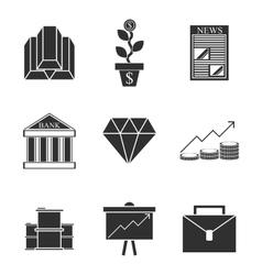 Stock exchange icons set vector image