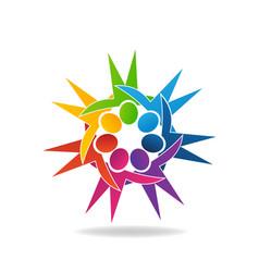 teamwork fun people symbol vector image