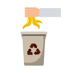 waste recycling design vector image
