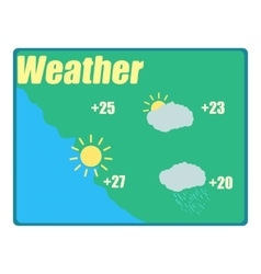 Weather forecast icon cartoon style vector