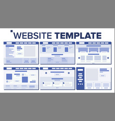 Website page set design responsive web vector