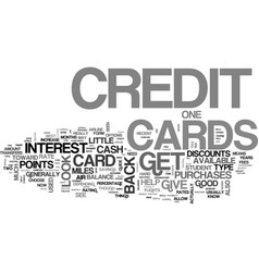 What kind of credit cards are there and which one vector