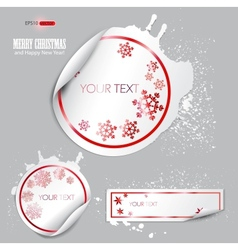winter bubbles vector image