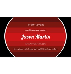 Creative red business card vector image vector image