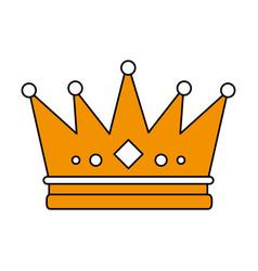 flat line crown design vector image