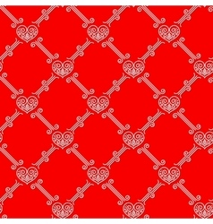 Ornamental seamless pattern with hearts vector image