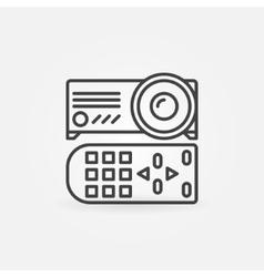 Projector linear icon vector image