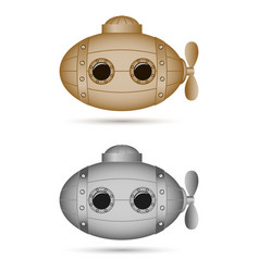 steampunk submarines vintage elements for banners vector image
