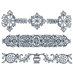 vintage border frame filigree engraving with vector image