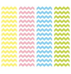 Zig zag pastel chevron tile pattern set vector image