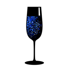 champagne blue black glass vector image vector image