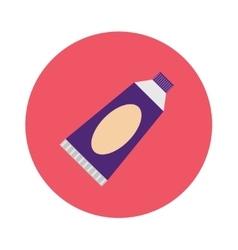 Dental tube toothpaste care flat cartoon vector image