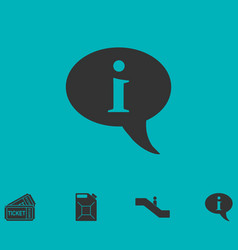 information icon flat vector image