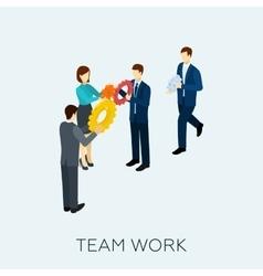Teamwork Concept Isometric vector image