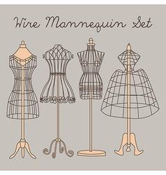 Wire Mannequin Set vector image