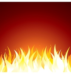 Fire background template for text or design vector