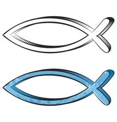 fish graffiti vector image vector image