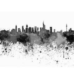 Frankfurt skyline in black watercolor on white vector image vector image