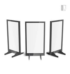 set of simple outdoor indoor stander advertising vector image