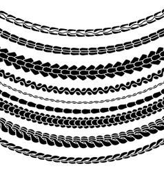 Set of Variety Chain Silhouettes vector image vector image