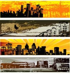 urban web banner templates vector image