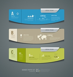 Banner colorful label paper cut for business vector image vector image