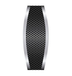grill perforated with metallic frame vector image