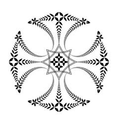 Laurel wreath tattoo Black ornament Cross sign vector image vector image
