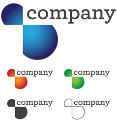 modern business logo vector image vector image