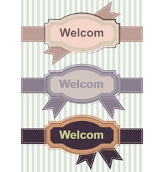 Welcom Retro Banners vector image