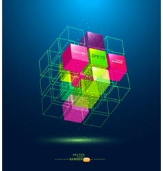 Abstract colorful cube vector