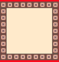 african traditional ornament square frame with fl vector image