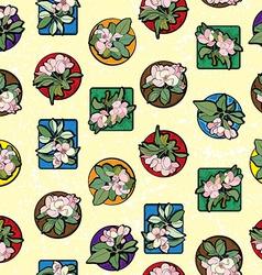 Apple flowers clip art pattern vector image