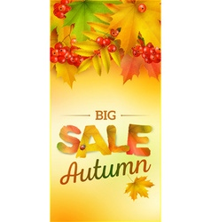 Autumn sale vertical banner vector