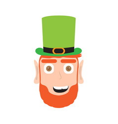 avatar of a surprised irish elf vector image