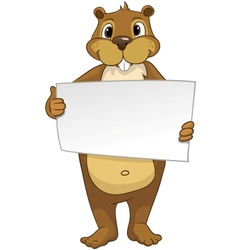 Beaver CREES Look for Funny Beaver by Keyword vector image