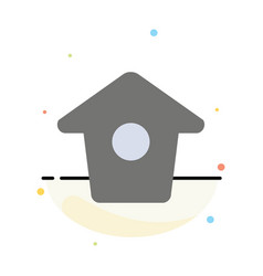Birdhouse tweet twitter abstract flat color icon vector