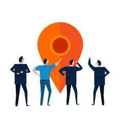 business location people discuss pointer tag vector image