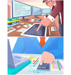business work collection vector image