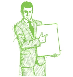 businessman write board vector image