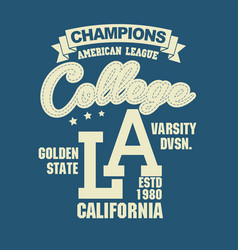 California sport t-shirt typography design vector
