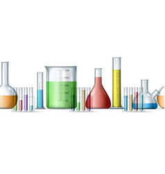 chemical research backdrop pattern vector image