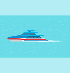 coast guard transportation vehicle sails in water vector image